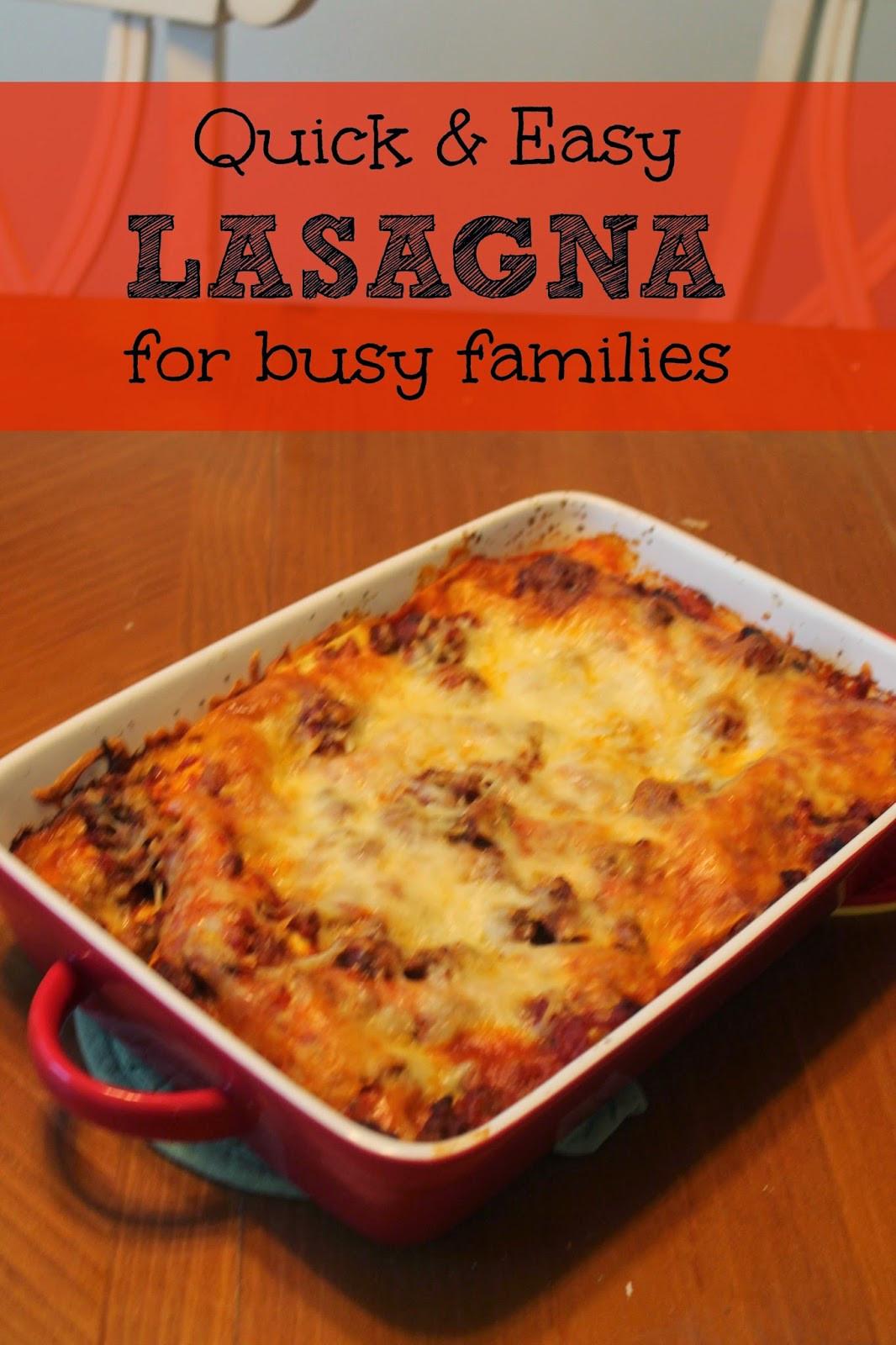 Quick Lasagna Recipe  Delicious Lasagna Recipes The BEST Lasagna Recipes that