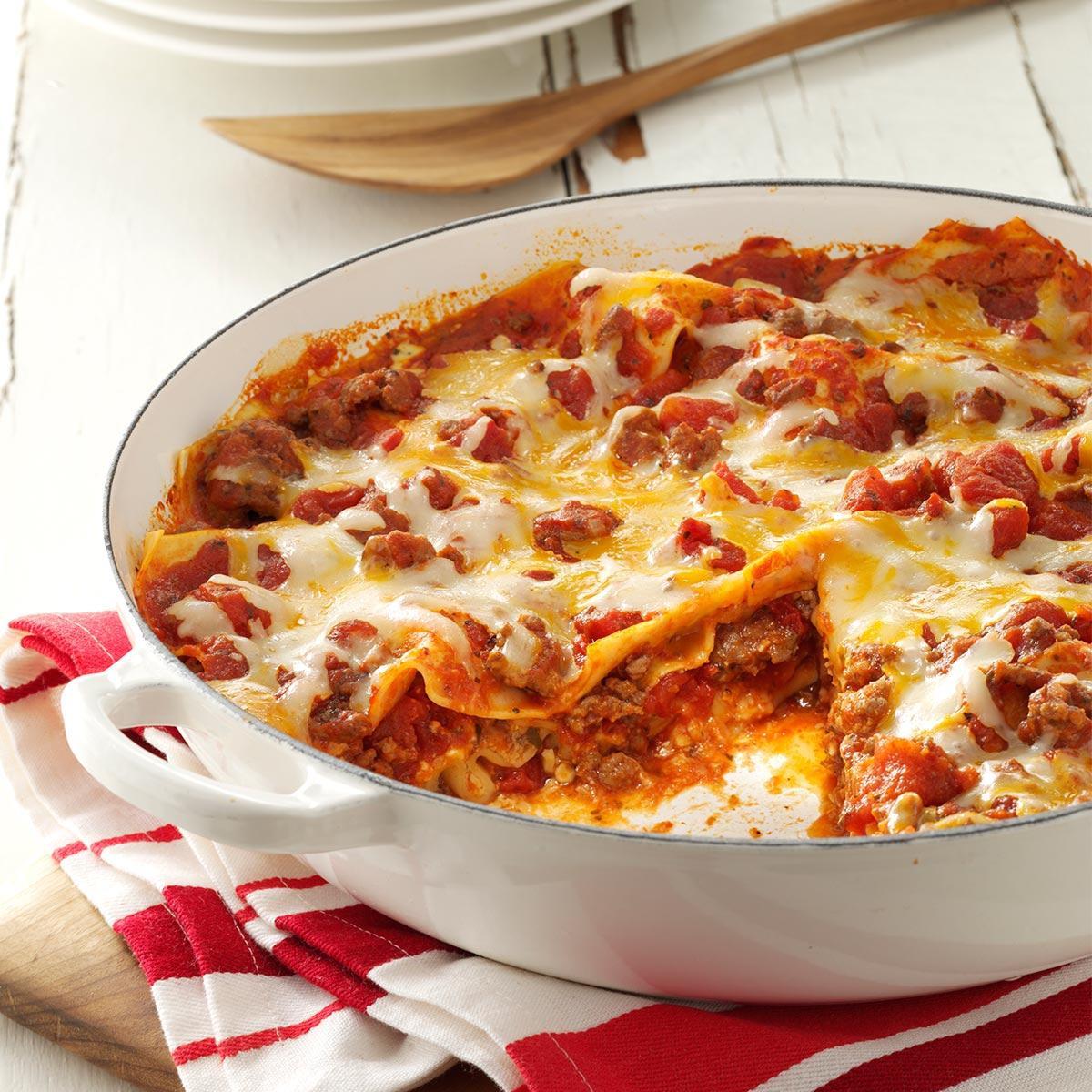 Quick Lasagna Recipe  e Skillet Lasagna Recipe