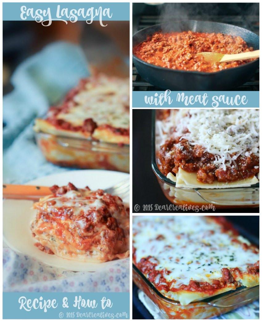 Quick Lasagna Recipe  Lasagna Recipe Easy Lasagna With Meat Sauce