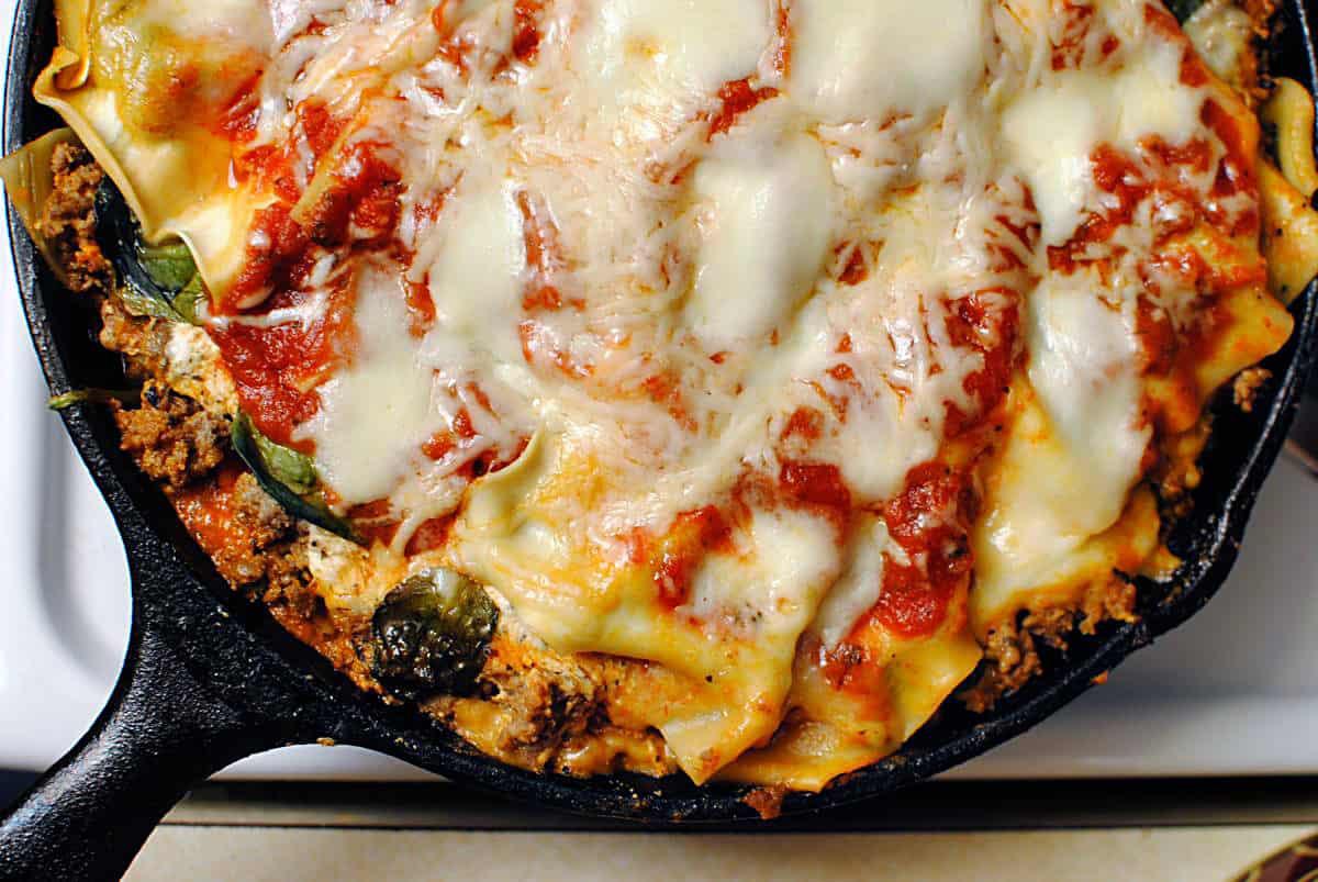 Quick Lasagna Recipe  Skillet Lasagna Quick Dinner Fixins Pass The Sushi