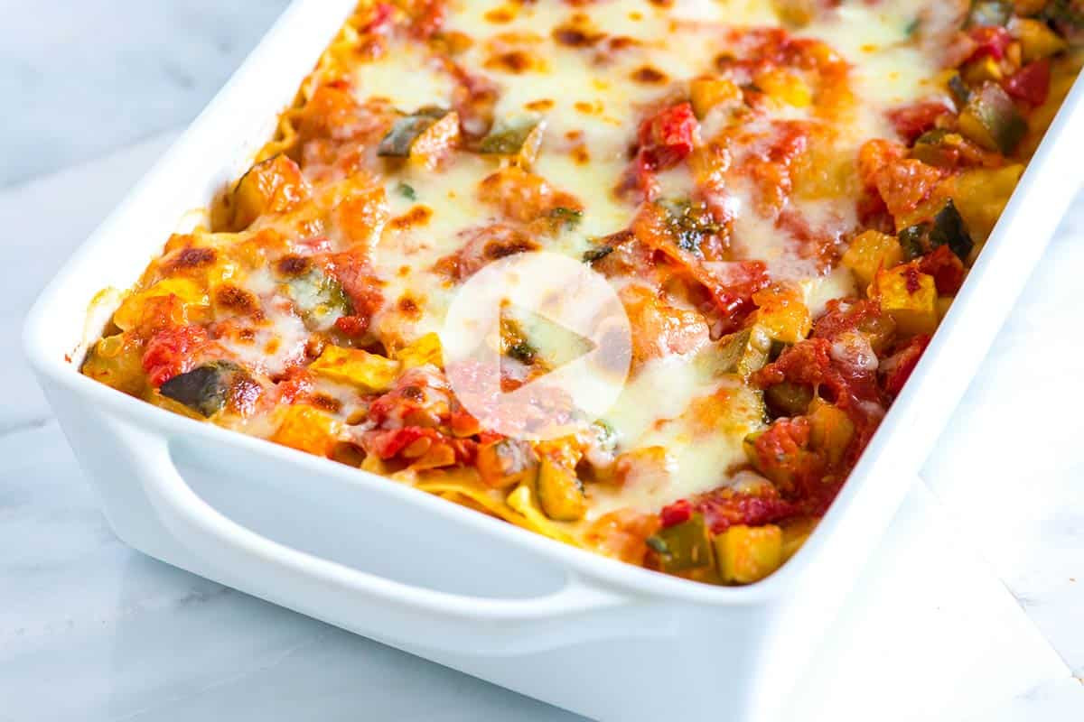 Quick Lasagna Recipe  healthy ve able lasagna