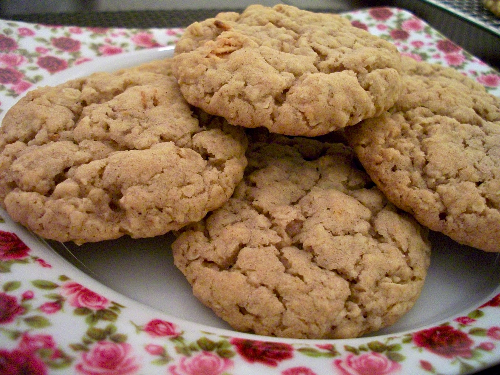 Quick Oatmeal Cookies  Brooke Bakes Apple Cinnamon Instant Oatmeal Cookies