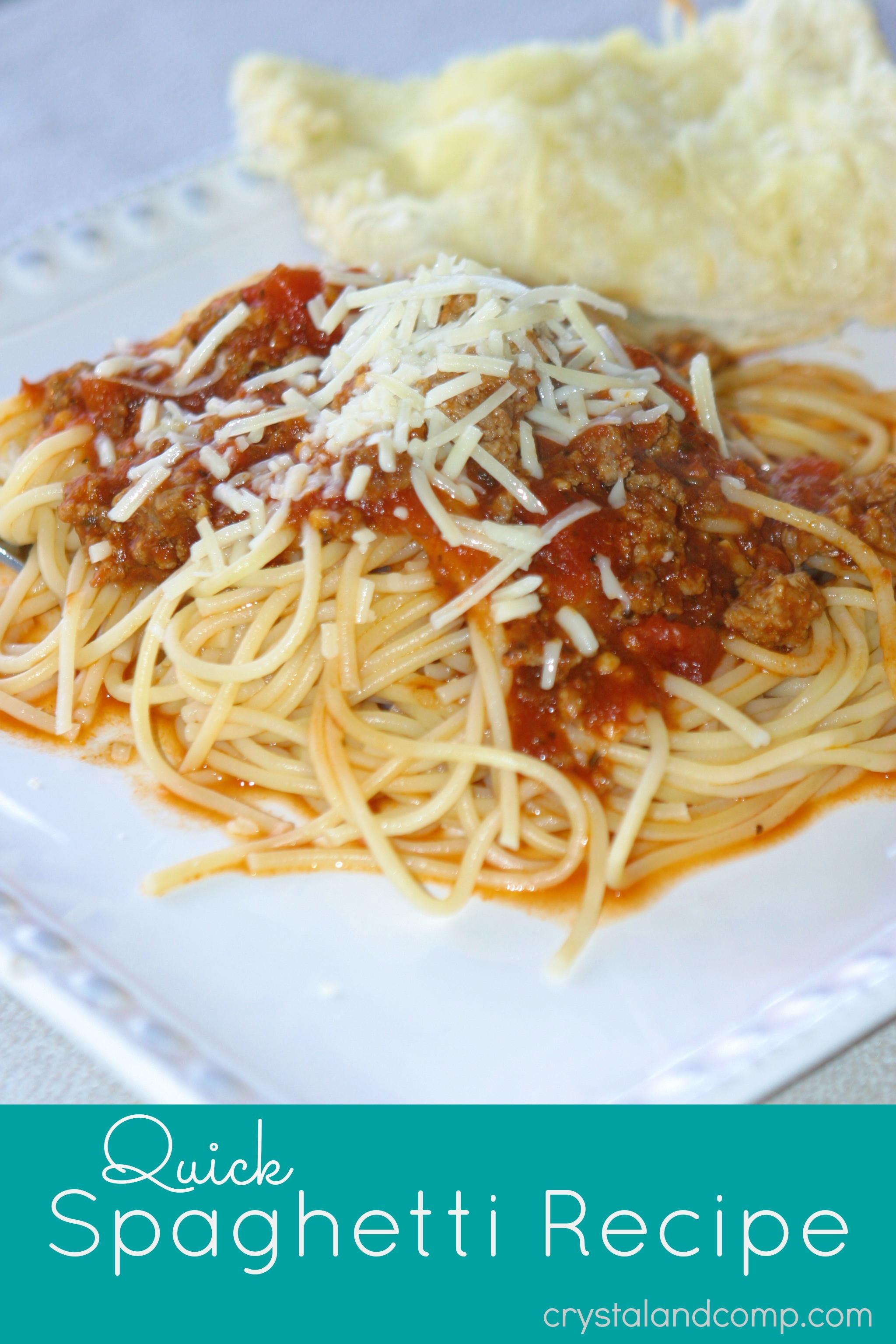 Quick Spaghetti Sauce  Quick Spaghetti Recipe