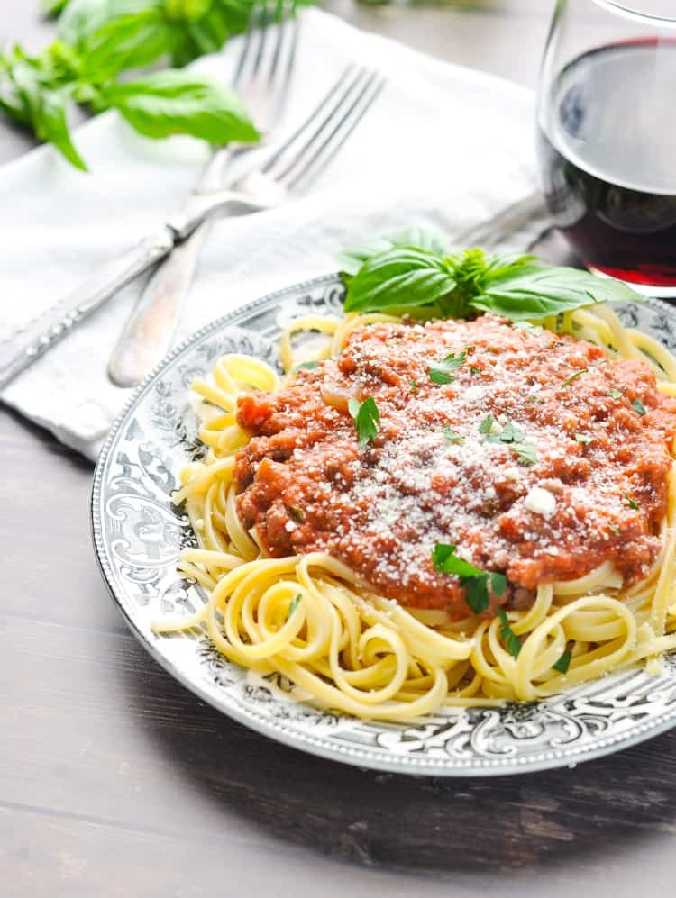 Quick Spaghetti Sauce  Quick and Easy Spaghetti Bolognese Sauce The Seasoned Mom