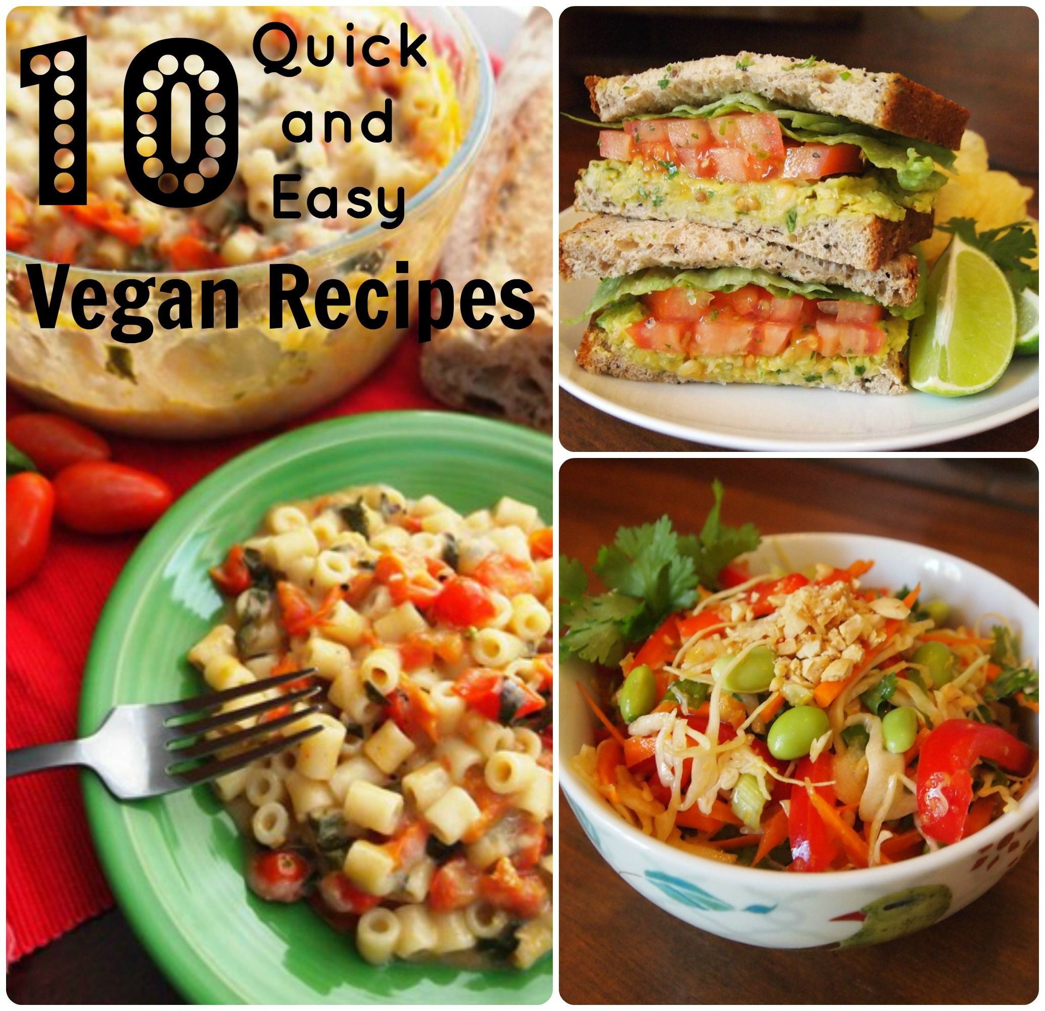 Quick Vegan Recipes  10 quick and easy vegan recipes