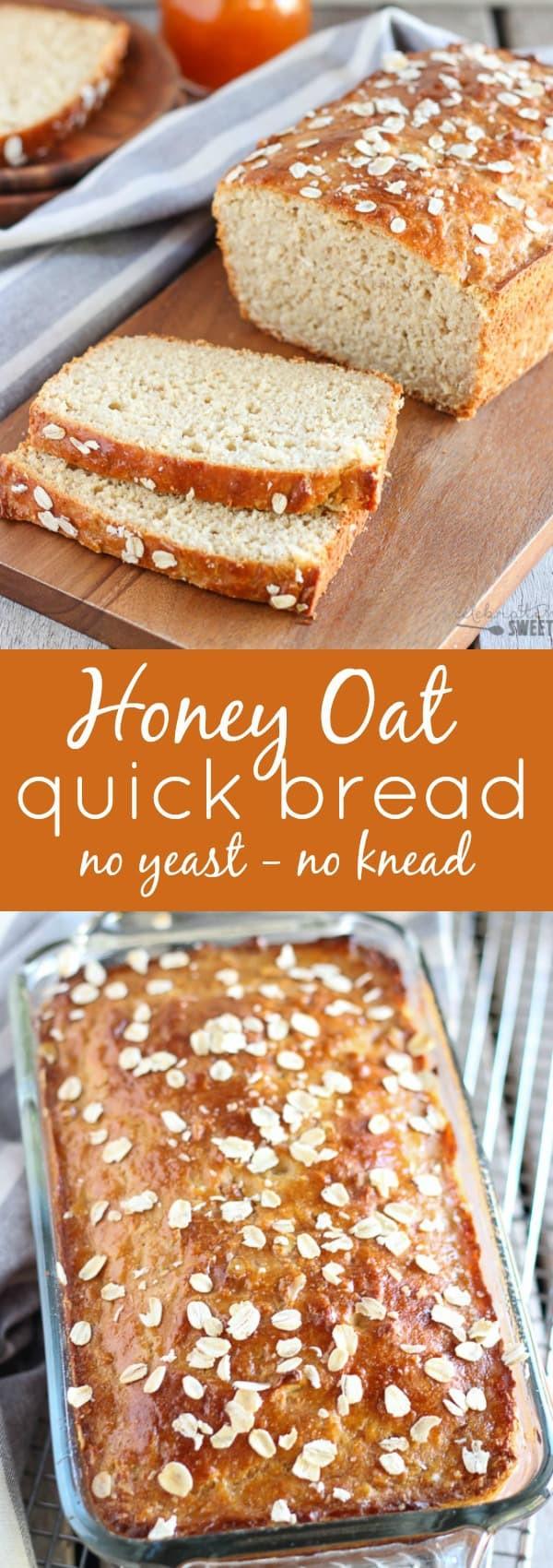 Quick Yeast Bread Recipes  Yeast Free Bread Honey Oat Quick Bread Recipe