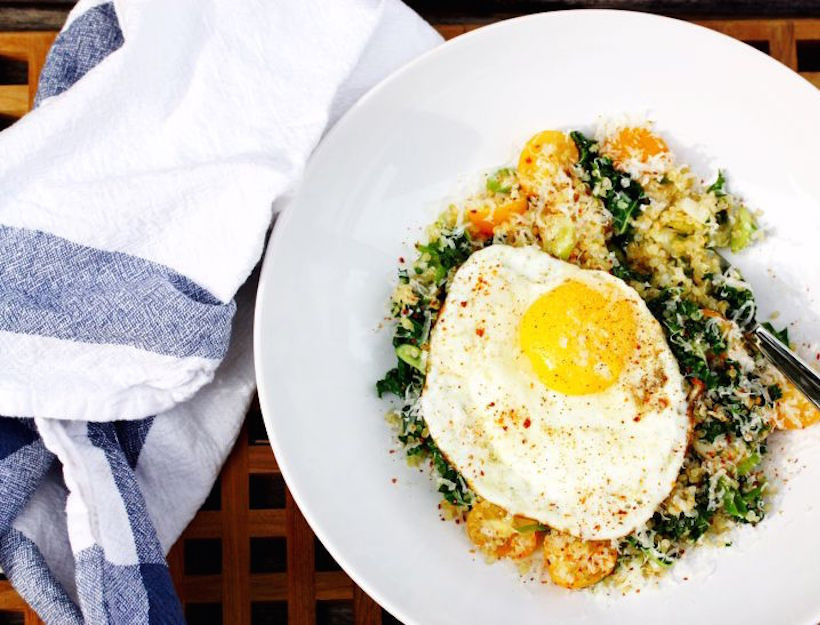 Quinoa Breakfast Bowl  Kale Quinoa Breakfast Bowl