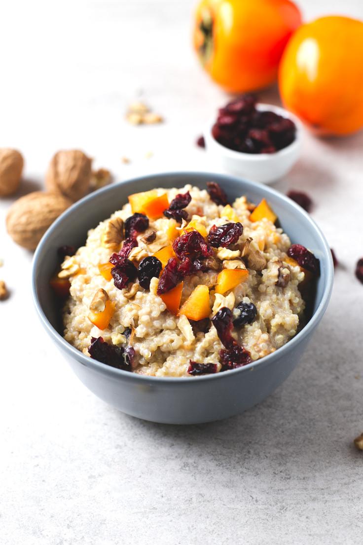 Quinoa Breakfast Bowl  Vegan Breakfast Quinoa Bowl