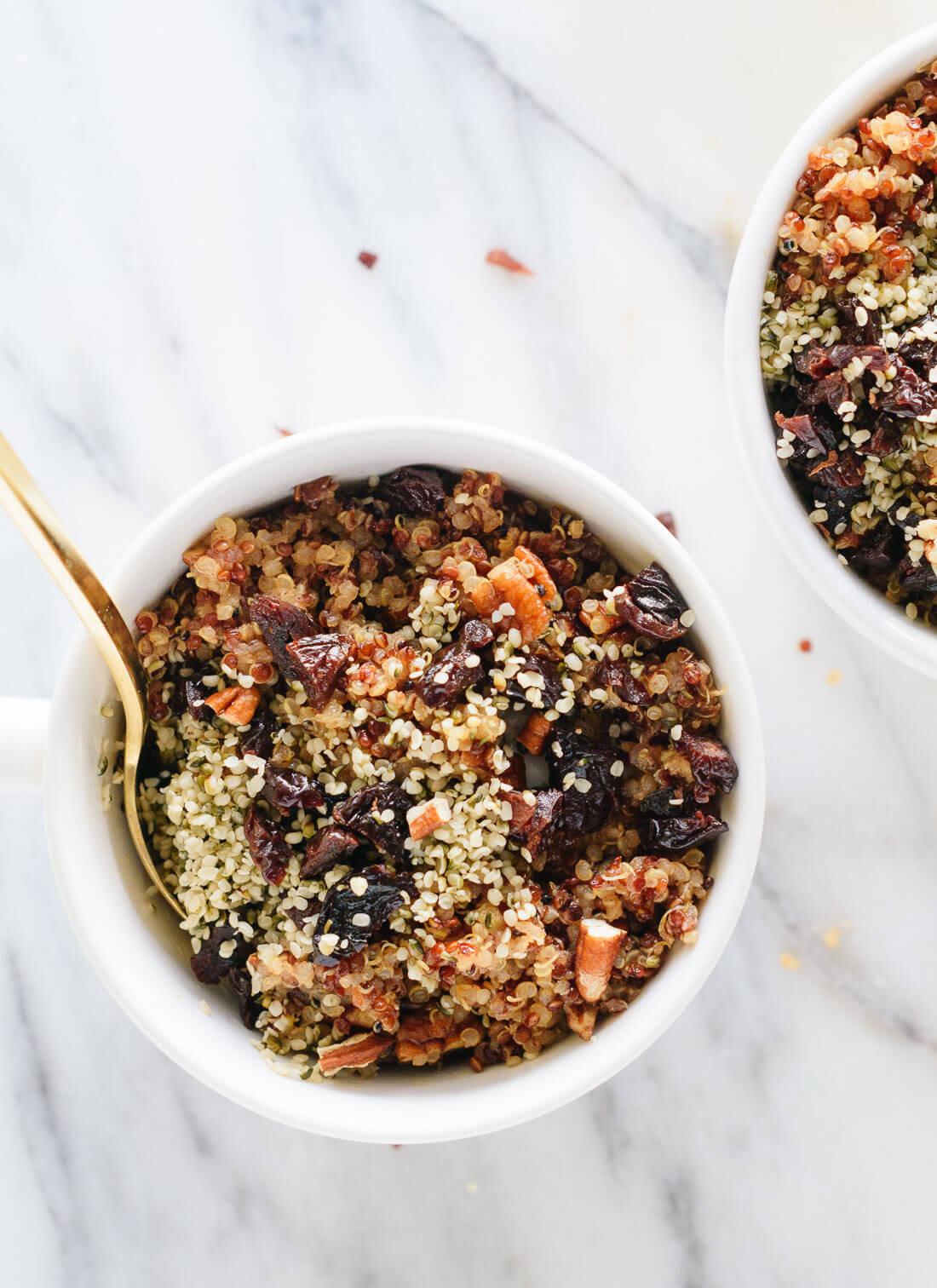 Quinoa Breakfast Recipes  Cinnamon Toast Breakfast Quinoa Cookie and Kate
