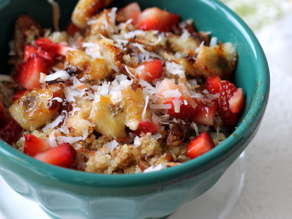 Quinoa Breakfast Recipes  Nutty Strawberry Banana Breakfast Quinoa Vegan & Gluten