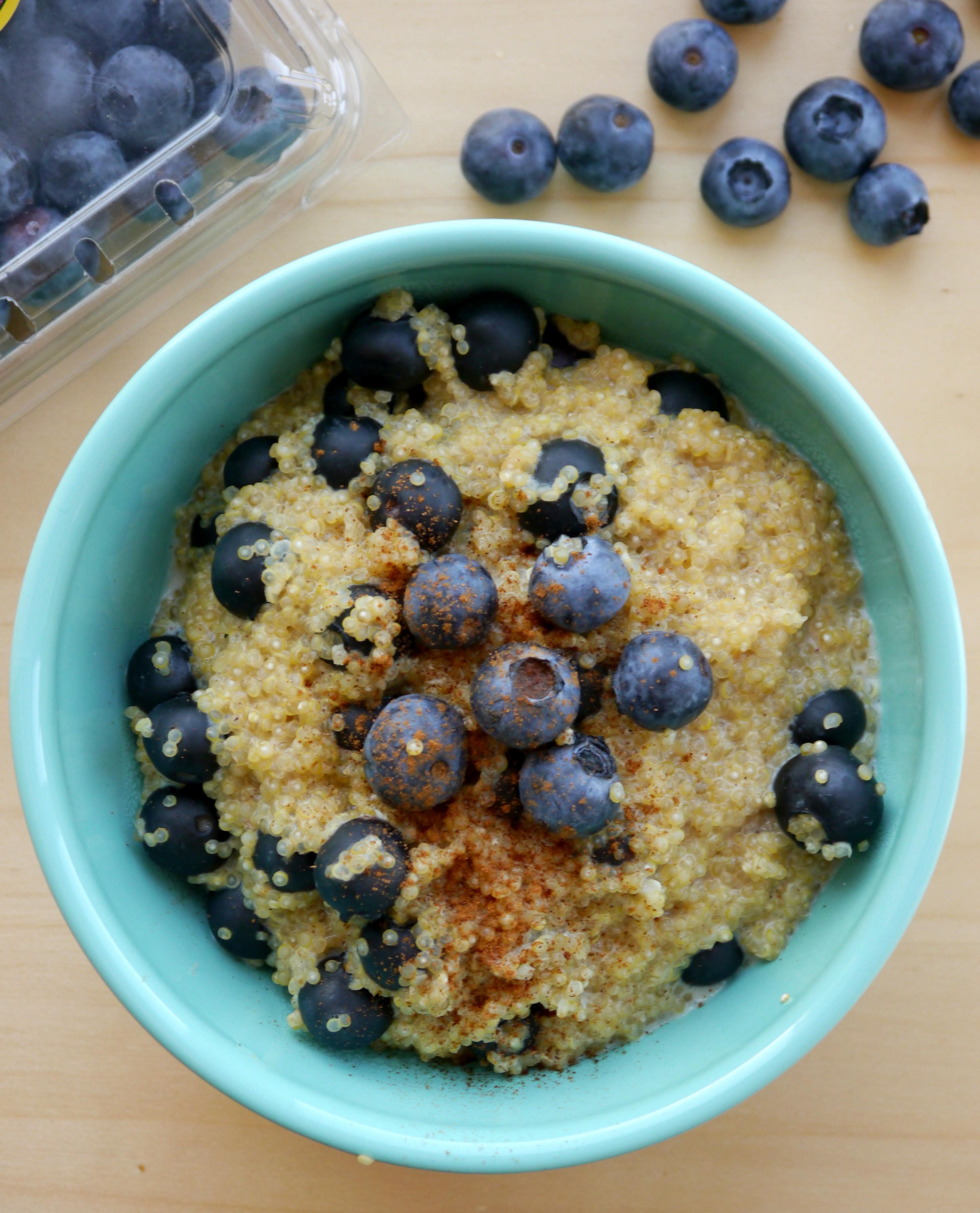Quinoa Breakfast Recipes  Blueberry Breakfast Quinoa My Bacon Wrapped Life