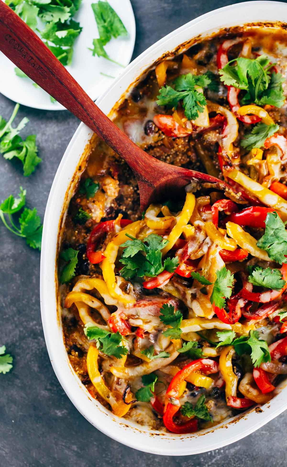 Quinoa Recipes With Chicken  Easy Mexican Chicken Quinoa Casserole Recipe Pinch of Yum