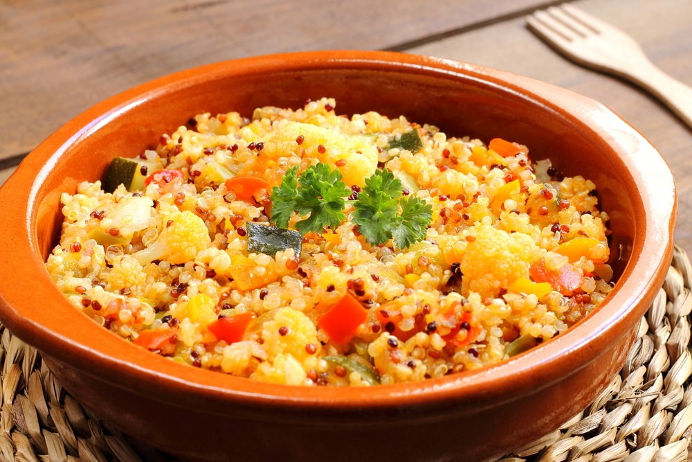 Quinoa Recipes With Chicken  Quinoa Stir Fry with Ve ables and Chicken recipe