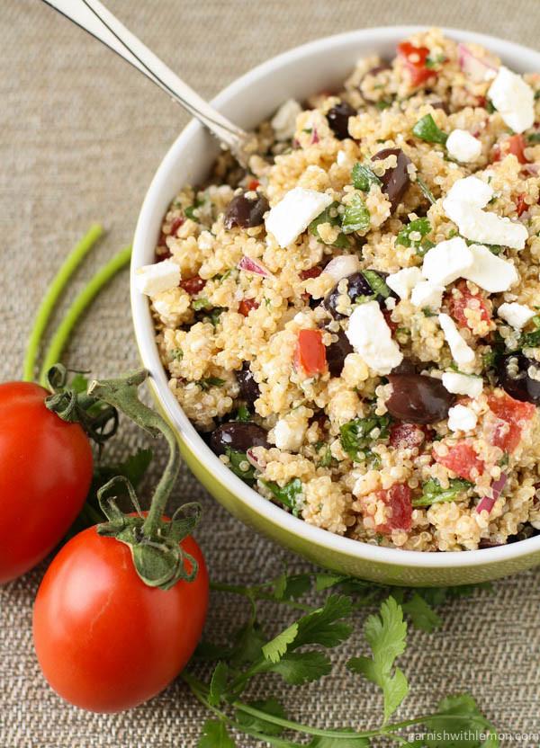 Quinoa Salad Mediterranean  Mediterranean Quinoa Salad Wendy Polisi