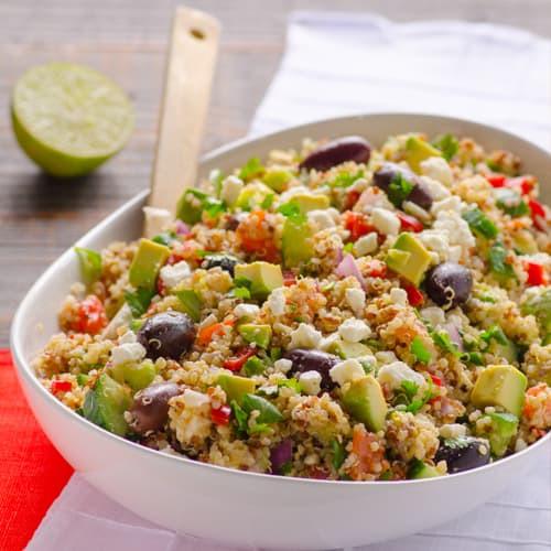 Quinoa Salad Mediterranean  Mediterranean Quinoa Salad Recipe iFOODreal Healthy