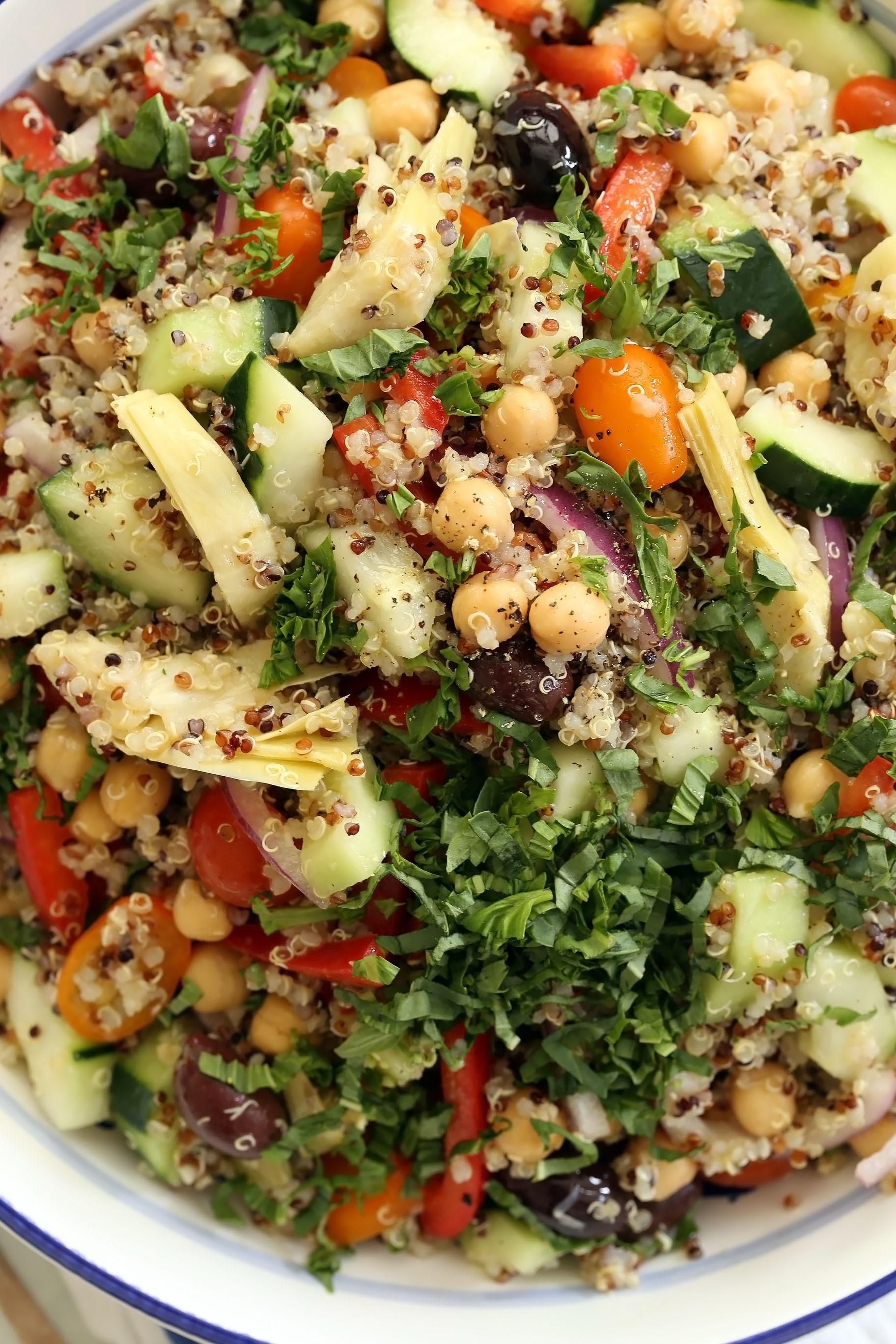 Quinoa Salad Mediterranean  Mediterranean Quinoa Salad The Harvest Kitchen