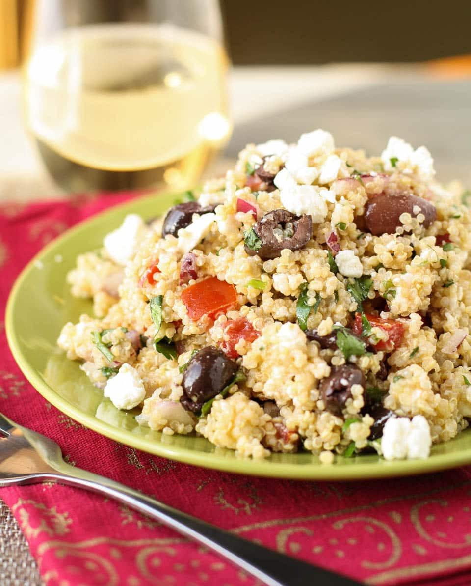 Quinoa Salad Mediterranean  Mediterranean Quinoa Salad Garnish with Lemon