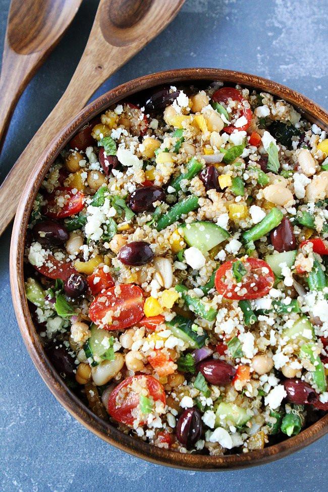 Quinoa Salad Recipe  Mediterranean Salad with Quinoa