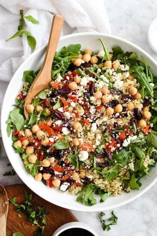 Quinoa Salad Recipe  15 Easy Mediterranean Diet Meal Prep Recipes Meal Prep