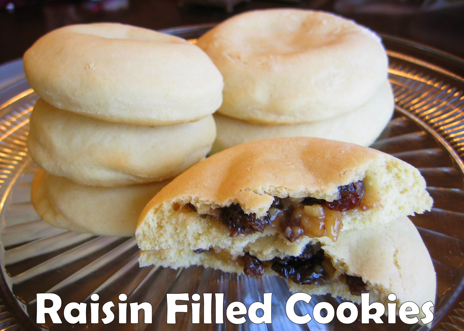 Raisin Filled Cookies  Pink Cookies with Sprinkles Sugar Cookie dough e