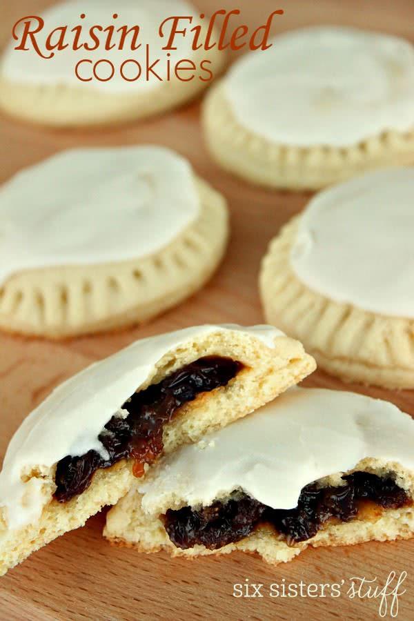 Raisin Filled Cookies  Raisin Filled Cookies