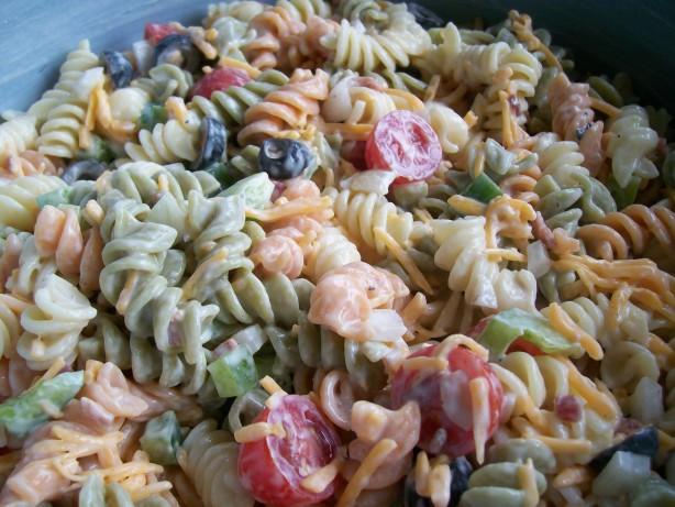 Ranch Pasta Salad  Ranch Pasta Salad Recipe Food