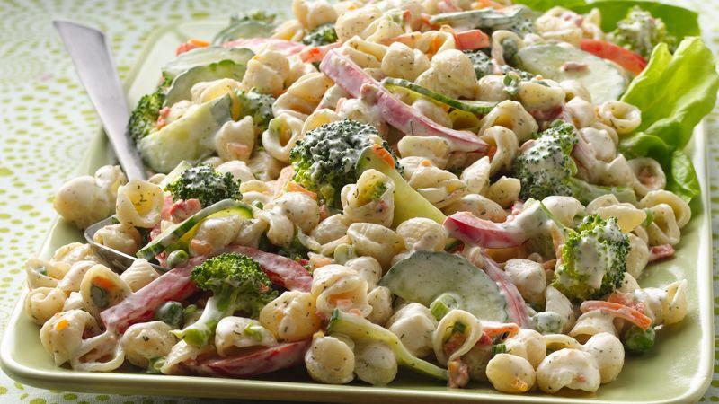 Ranch Pasta Salad  Garden Ranch Pasta Salad Recipe BettyCrocker