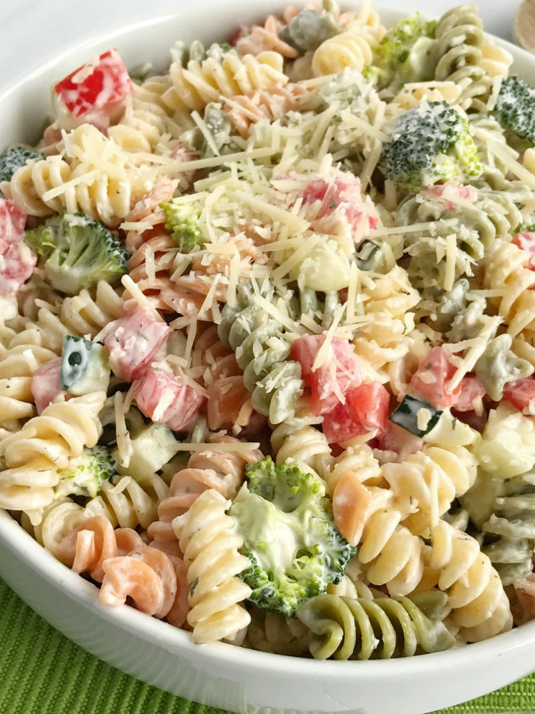 Ranch Pasta Salad  Ranch Pasta Salad To her as Family