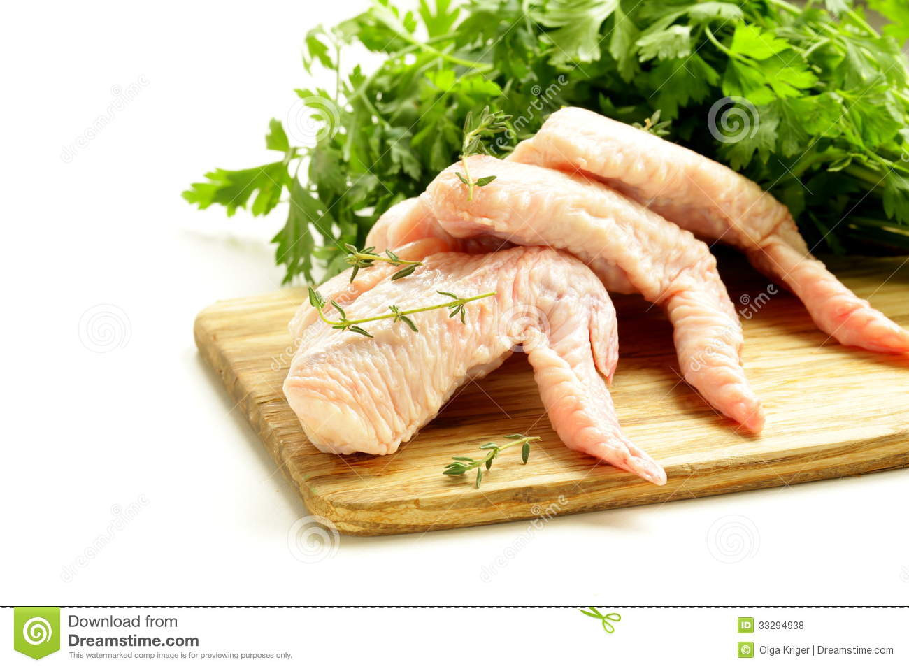 Raw Chicken Wings  Raw Chicken Wings Chopping Board Royalty Free Stock