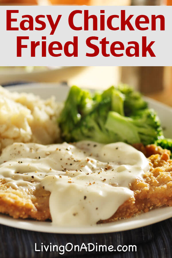 Recipe For Chicken Fried Steak  Easy Chicken Fried Steak And Gravy Recipe Living on a Dime