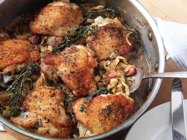 Recipe For Chicken Thighs  basic braised chicken