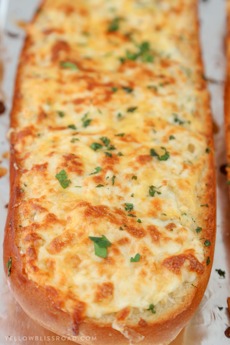 Recipe For Garlic Bread  Cheesy Garlic Bread