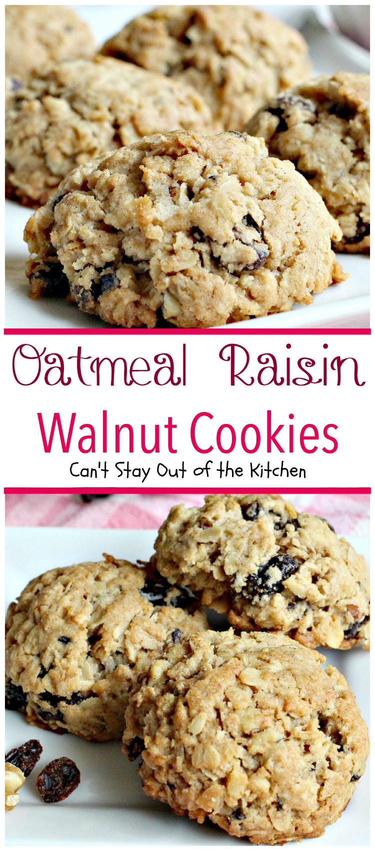 Recipe For Oatmeal Raisin Cookies  Cinnamon Oatmeal Raisin And Walnut Cookies Recipe