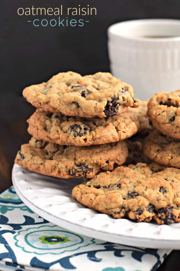 Recipe For Oatmeal Raisin Cookies  Oatmeal Raisin Cookies Shugary Sweets