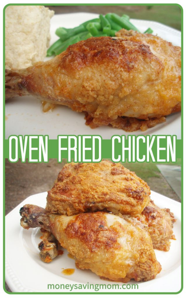Recipe For Oven Fried Chicken  Oven Fried Chicken Money Saving Mom