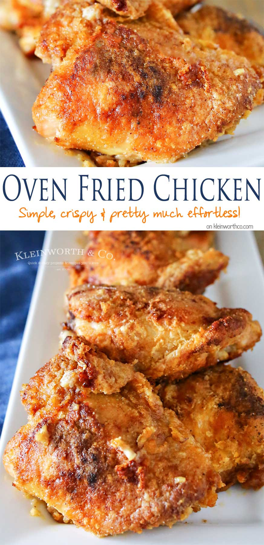 Recipe For Oven Fried Chicken  Oven Fried Chicken Kleinworth & Co