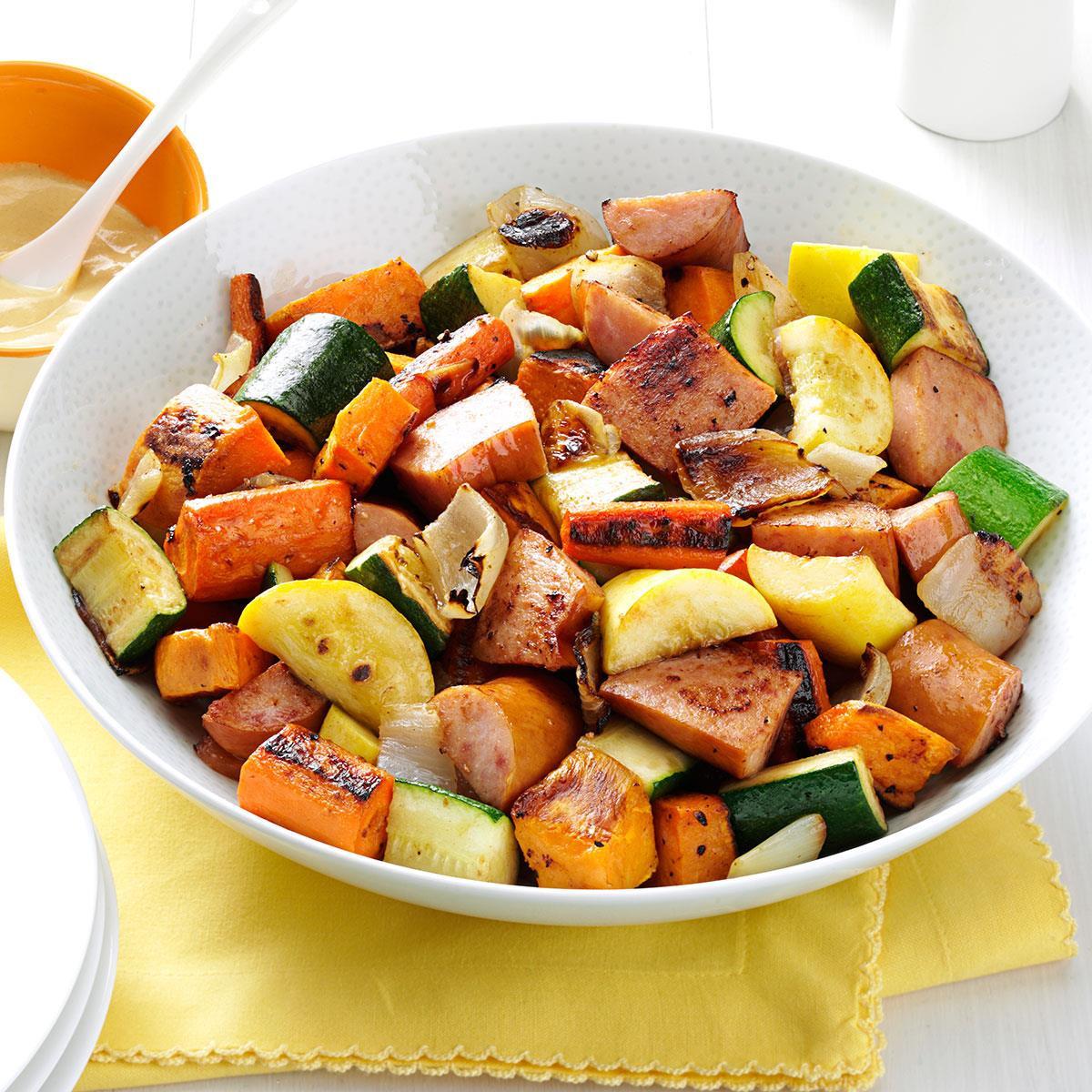 Recipe For Roasted Vegetables  Roasted Kielbasa & Ve ables Recipe