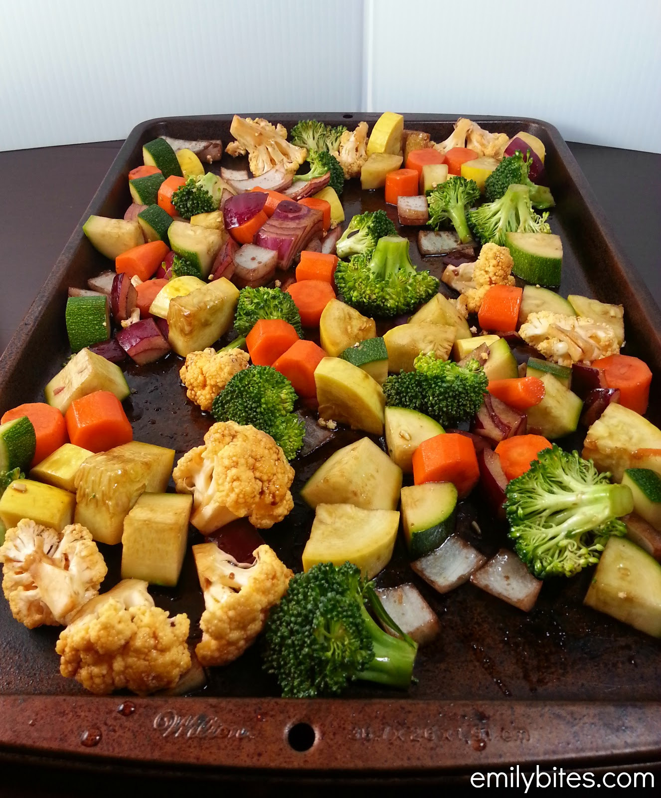 Recipe For Roasted Vegetables  Balsamic Roasted Ve ables Emily Bites