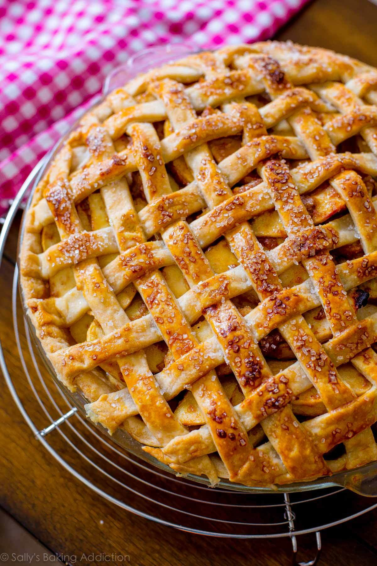 Recipes For Apple Pie  Salted Caramel Apple Pie Sallys Baking Addiction