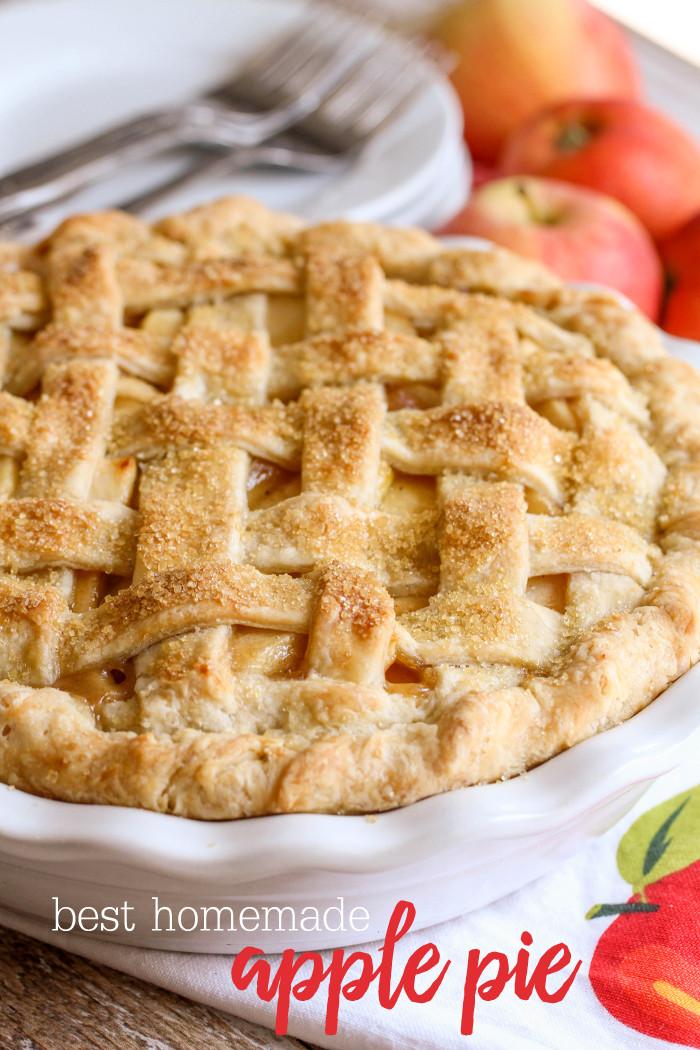 Recipes For Apple Pie  BEST Homemade Apple Pie Recipe