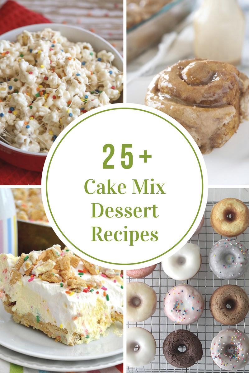Recipes Using Cake Mix  Cake Mix Dessert Recipes The Idea Room
