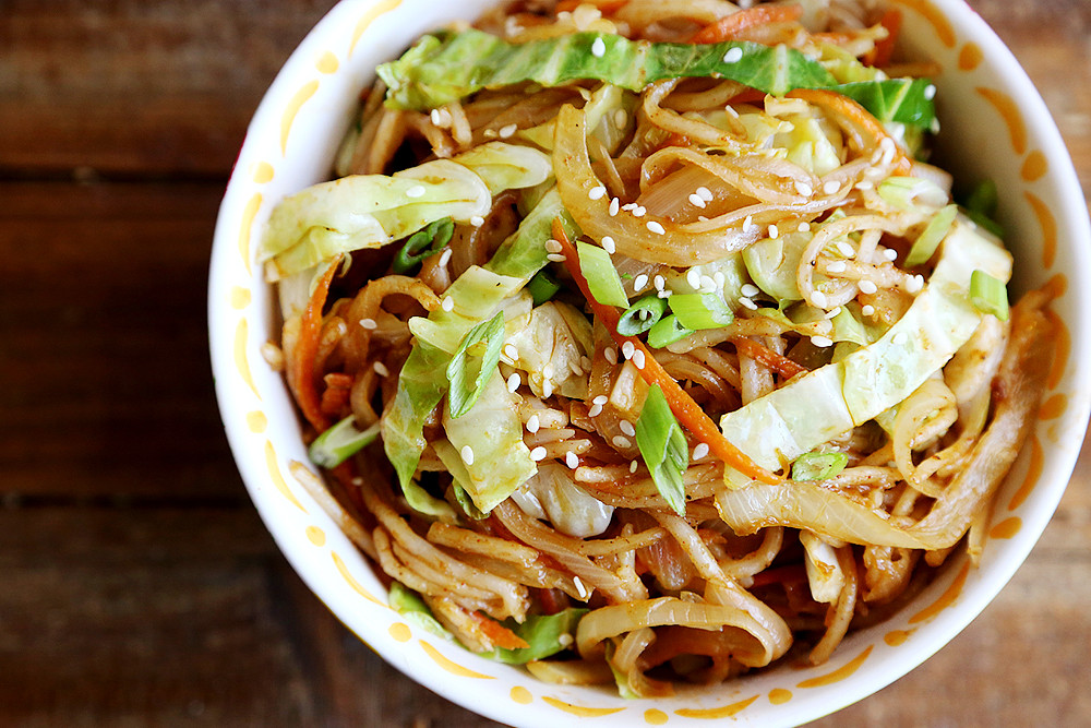Recipes With Rice Noodles  cabbage brown rice