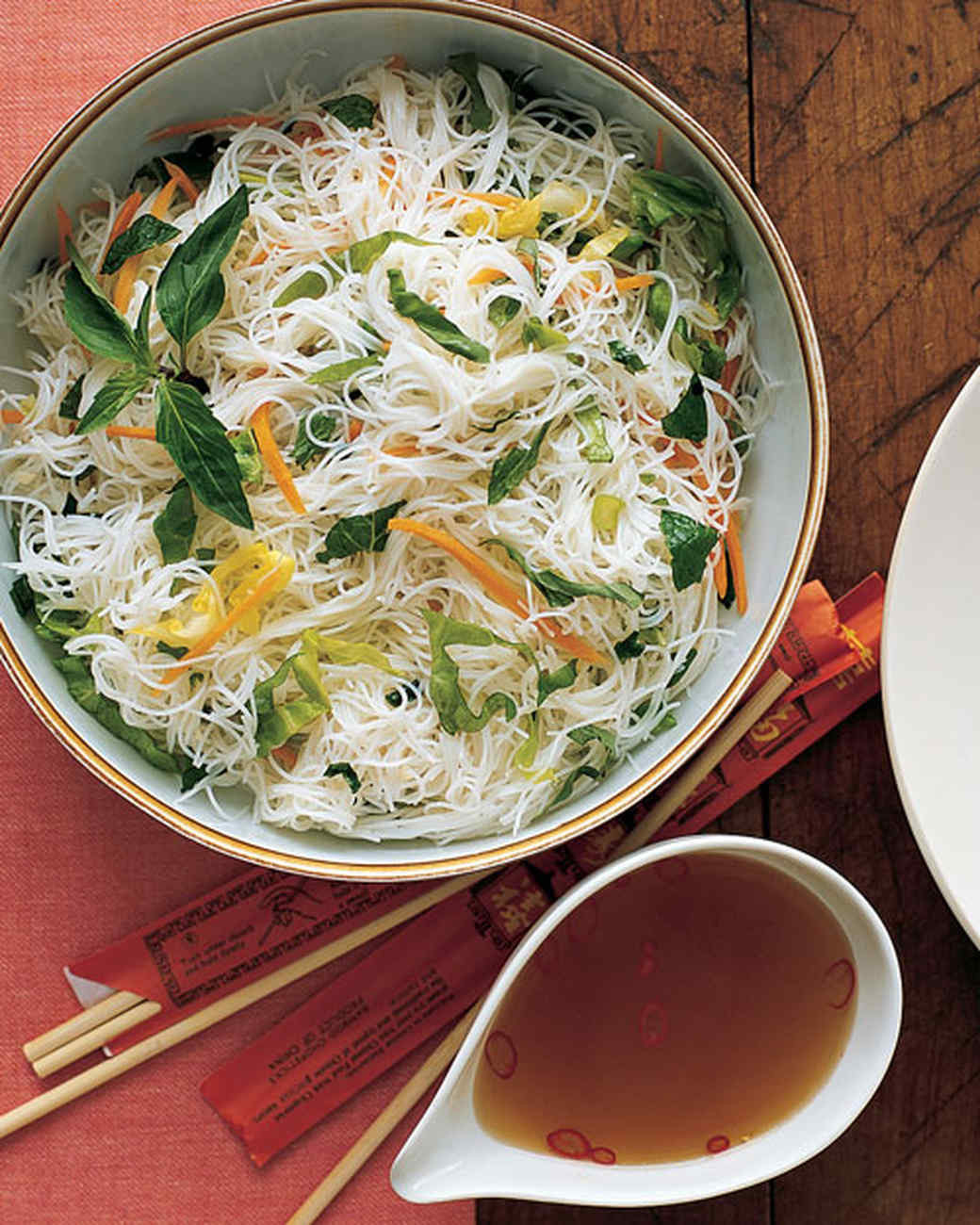 Recipes With Rice Noodles  Rice Noodles with Scallions and Herbs