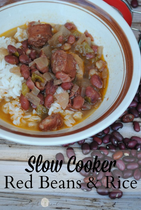 Red Beans And Rice Slow Cooker  Slow Cooker Red Beans and Rice We Got Real
