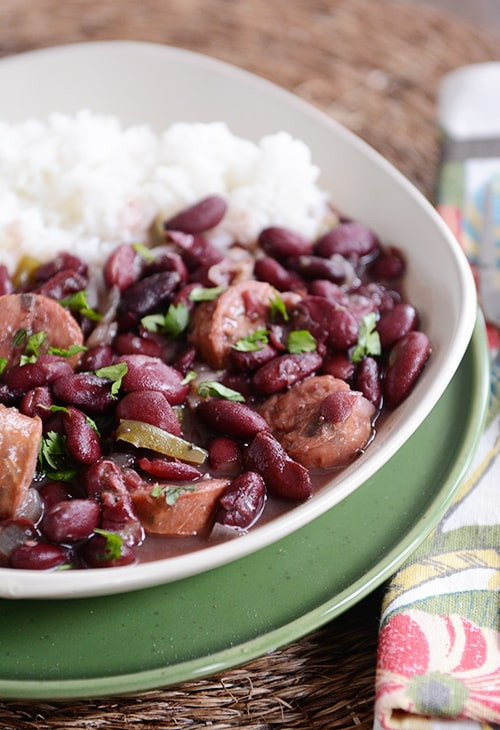 Red Beans And Rice Slow Cooker  Slow Cooker Red Beans and Rice with Chicken Sausage