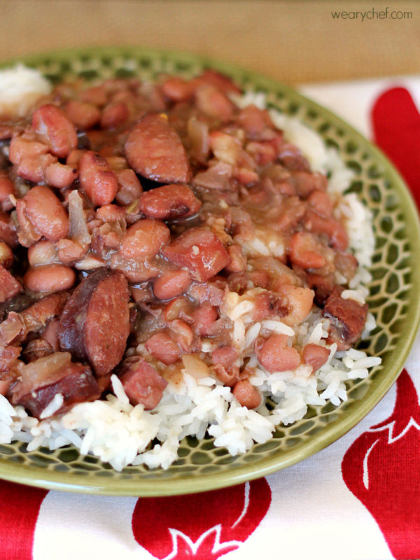 Red Beans And Rice Slow Cooker  Slow Cooker Red Beans and Rice The Weary Chef