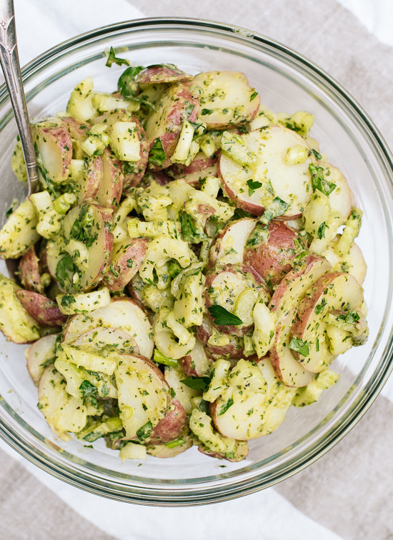 Red Potato Salad Recipes  Herbed Red Potato Salad Recipe Cookie and Kate