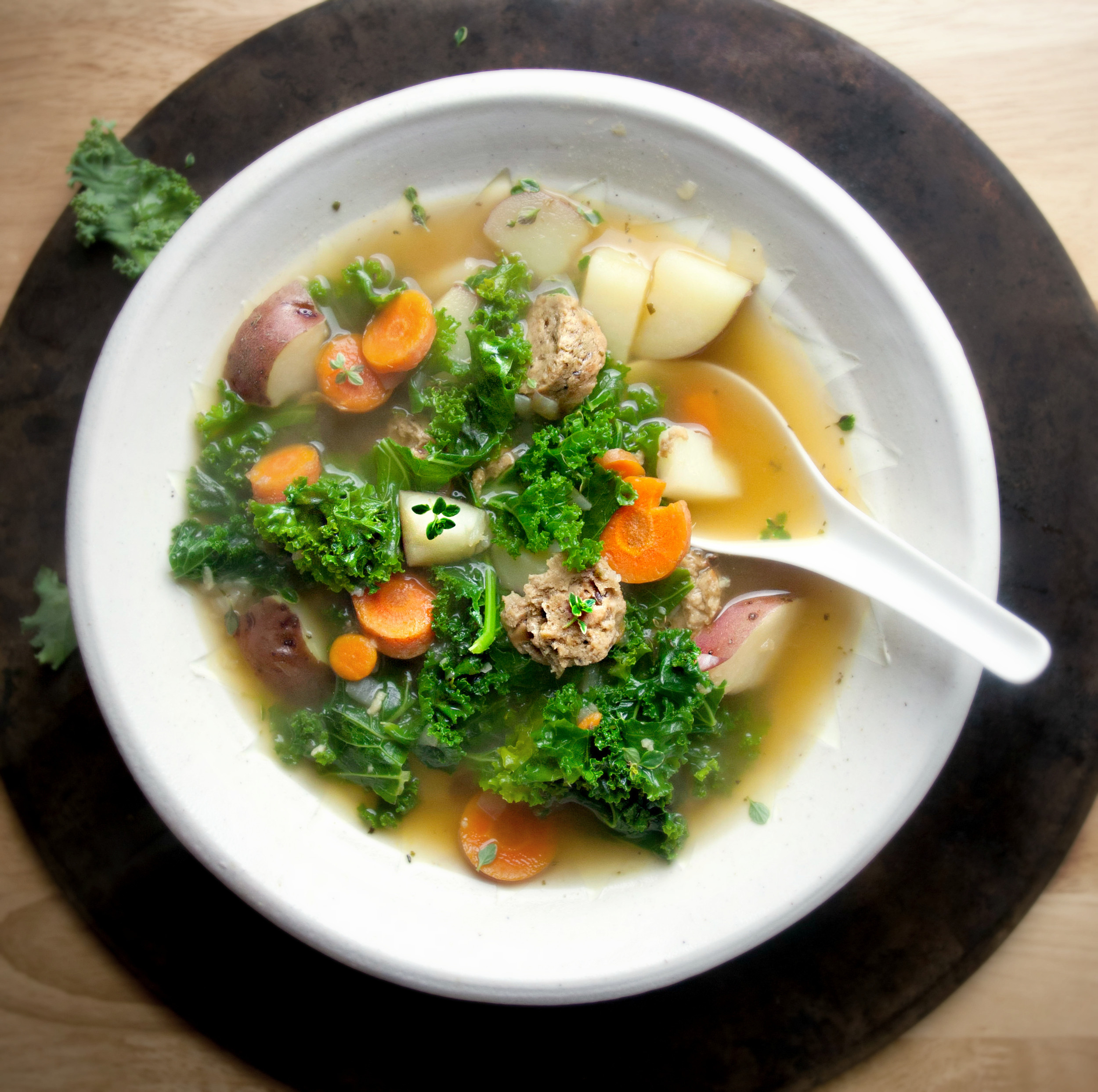 Red Potato Soup  Kale and Red Potato Soup with Grain Sausage — Produce