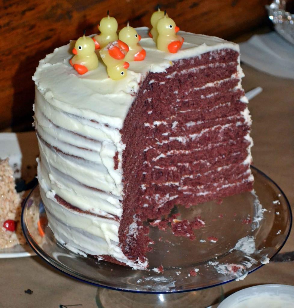 Red Velvet Cake Icing  Twelve Layer Red Velvet Cake with Cream Cheese Frosting