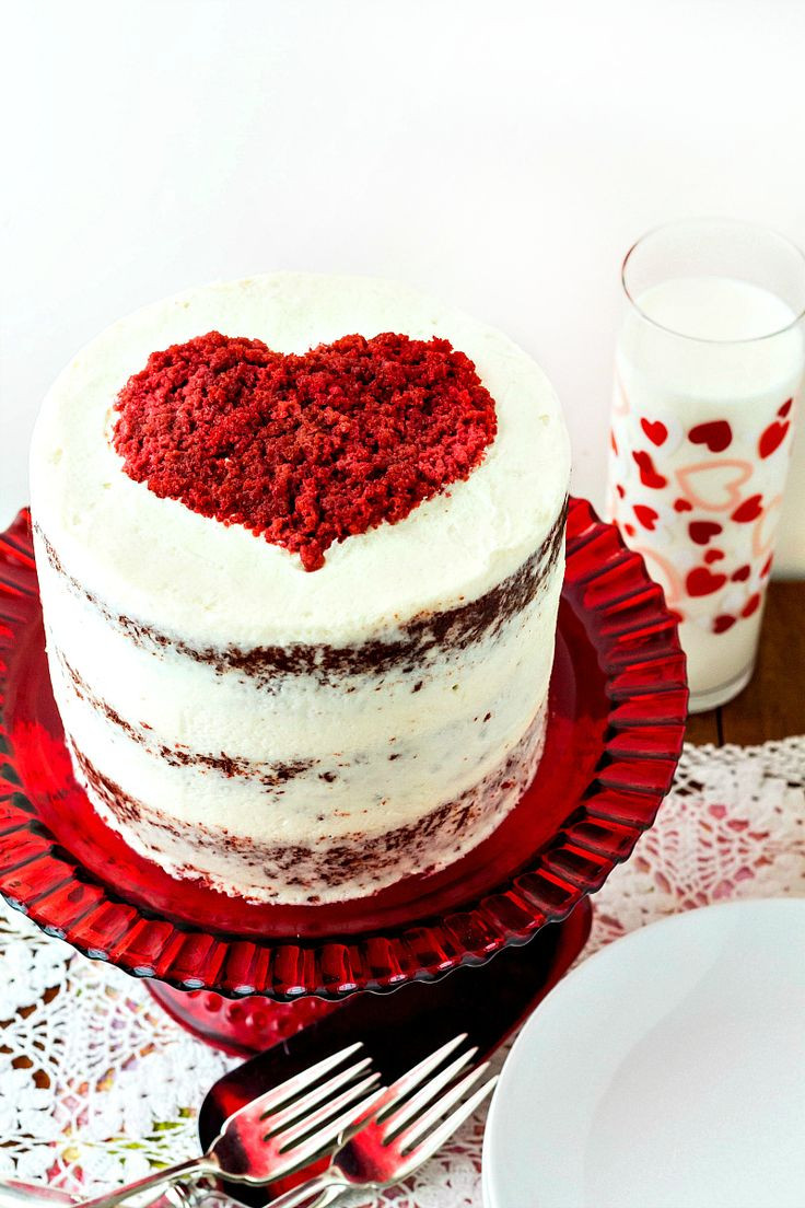 Red Velvet Cake Icing  The 25 best Valentine cake ideas on Pinterest